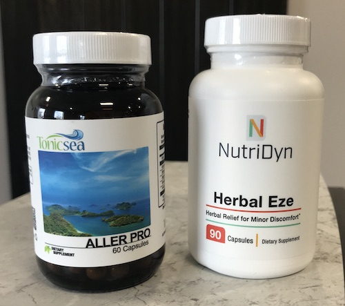 Aller Pro and Herbal Eze, two of Ideal Health's supplements help to support nutrient deficiencies.