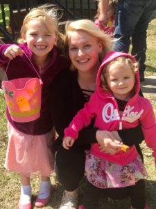 Massage Therapist Emalie Beckers (and daughters)
